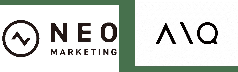 株式会社ネオマーケティングとAIQ株式会社のロゴ画像